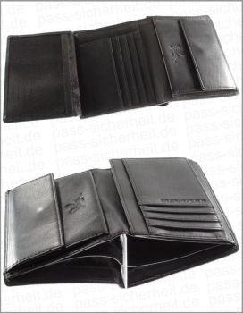 92d03f51a6e32 Mano NFC   RFID Abgeschirmte Geldbörse CERTO hochformat aus Leder für.