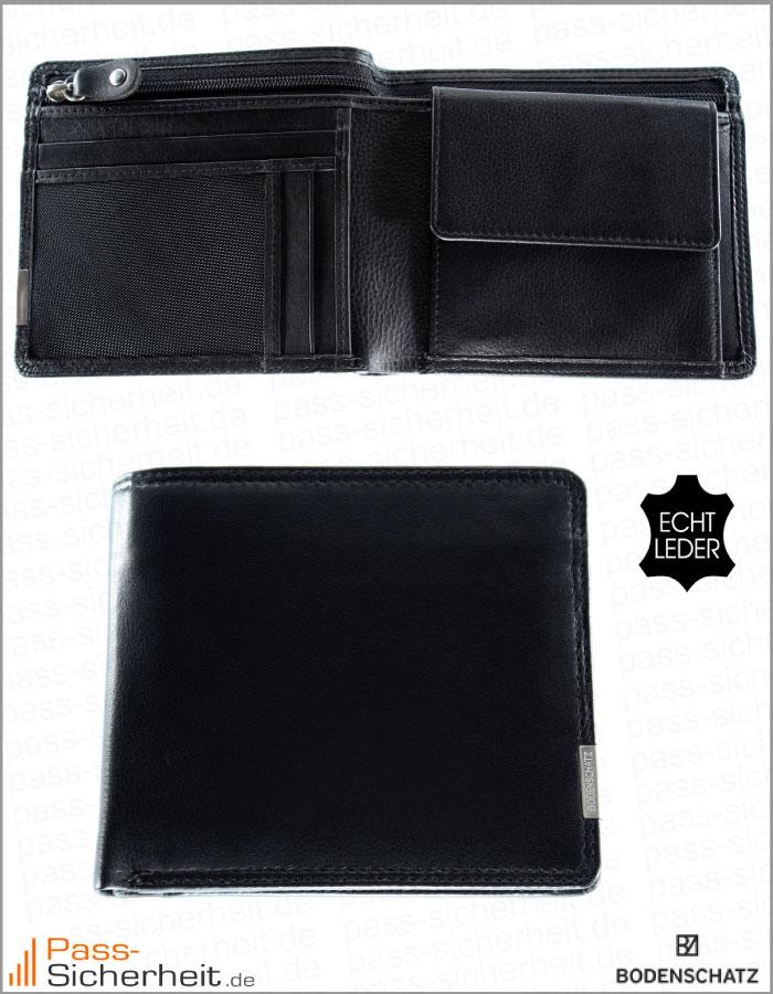 1f4edc0f478dd Bodenschatz NFC   RFID Datenschutz-Geldbörse Kings Nappa mit Kartenfächern  im Reißverschluss-Geldscheinfach und