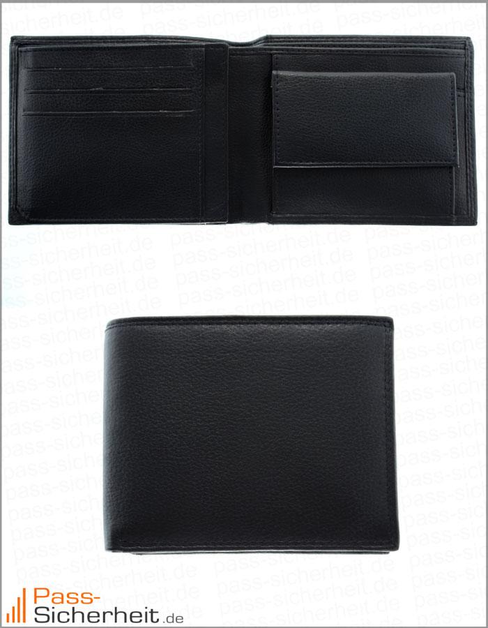 Rfid Geldbörse Nfc Portemonnaie Aus Leder Und Feinsynthetik